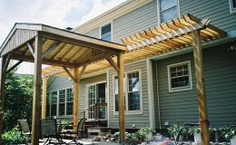 Custom-Built Redwood Cedar Pergola in Niles