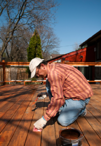 Chicago deck staining