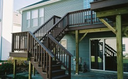 Custom Composite Deck and Stairs in Morton Grove
