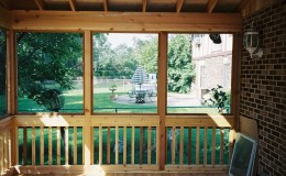Custom Cedar Screen Rooms in Wilmette