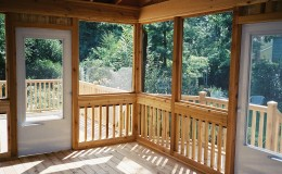Custom Cedar Screen Rooms in Northbrook