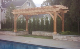 Custom Cedar Wood Pergolas in Arlington Heights