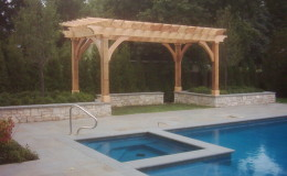 Custom Cedar Wood Pergolas in Mount Prospect