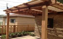 Custom Cedar Wood Pergolas in Northbrook