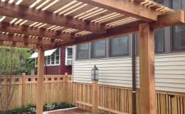 Custom Cedar Wood Pergolas in Park Ridge