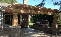 Custom Cedar Wood Pergolas in Glenview