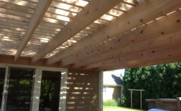 Custom Cedar Wood Pergolas in Wilmette