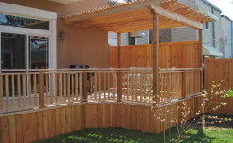 Custom Cedar Wood Pergolas in Chicago