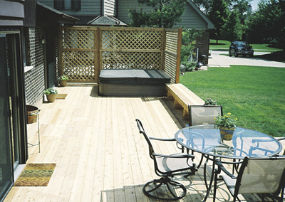Rustic Woodmen Cedar Decks - Brookfield IL