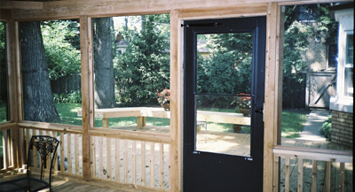 Rustic Woodmen Screen Porch