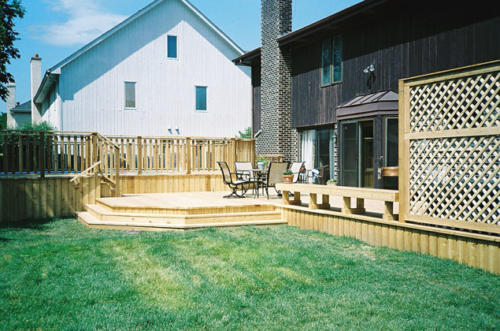 Cedar Deck and Bench