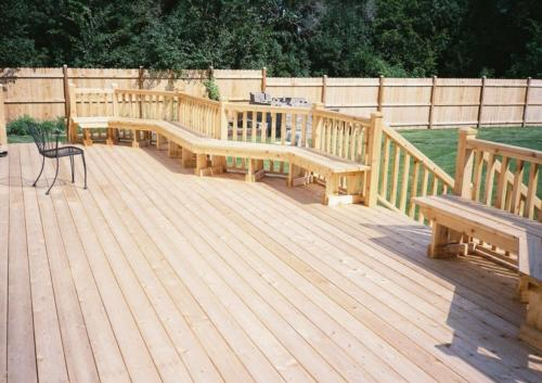 Custom Cedar Wood Deck in Des Plaines