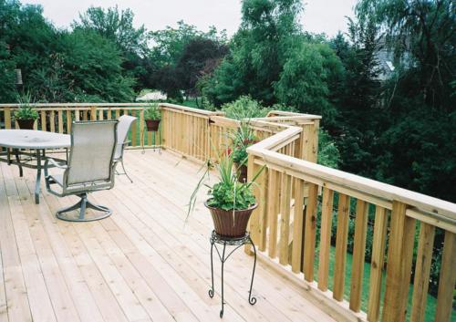 Custom Cedar Wood Deck in Mount Prospect
