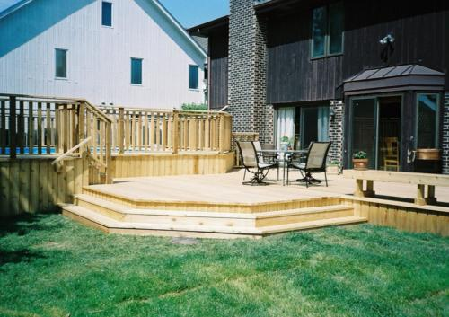 Morton Grove Custom Cedar Wood Deck Contractor