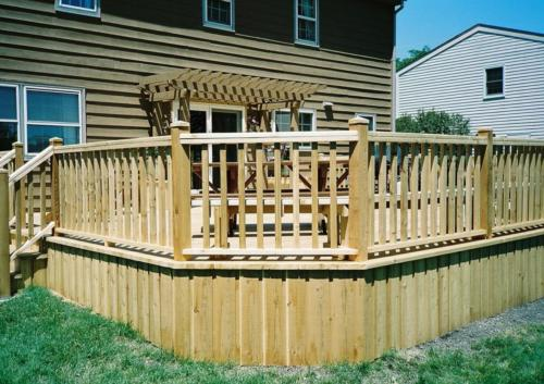 Niles Custom Cedar Wood Deck Contractor