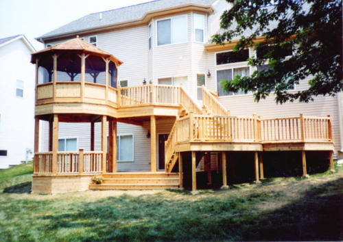 Park Ridge Custom Cedar Wood Deck Contractor