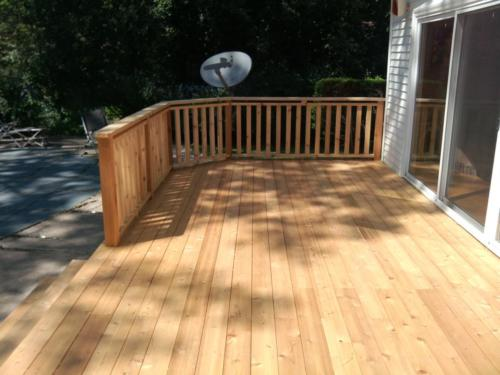 Wilmette Custom Red Wood Cedar Deck Construction